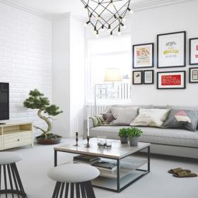 Thiết kế nội thất đẹp với màu nhạt nhẹ nhàng
